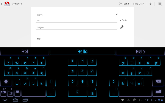 SwiftKey Tablet X offers a split-screen mode for thumb typing on large screens.