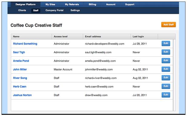 Weebly Designer Screenshot 1