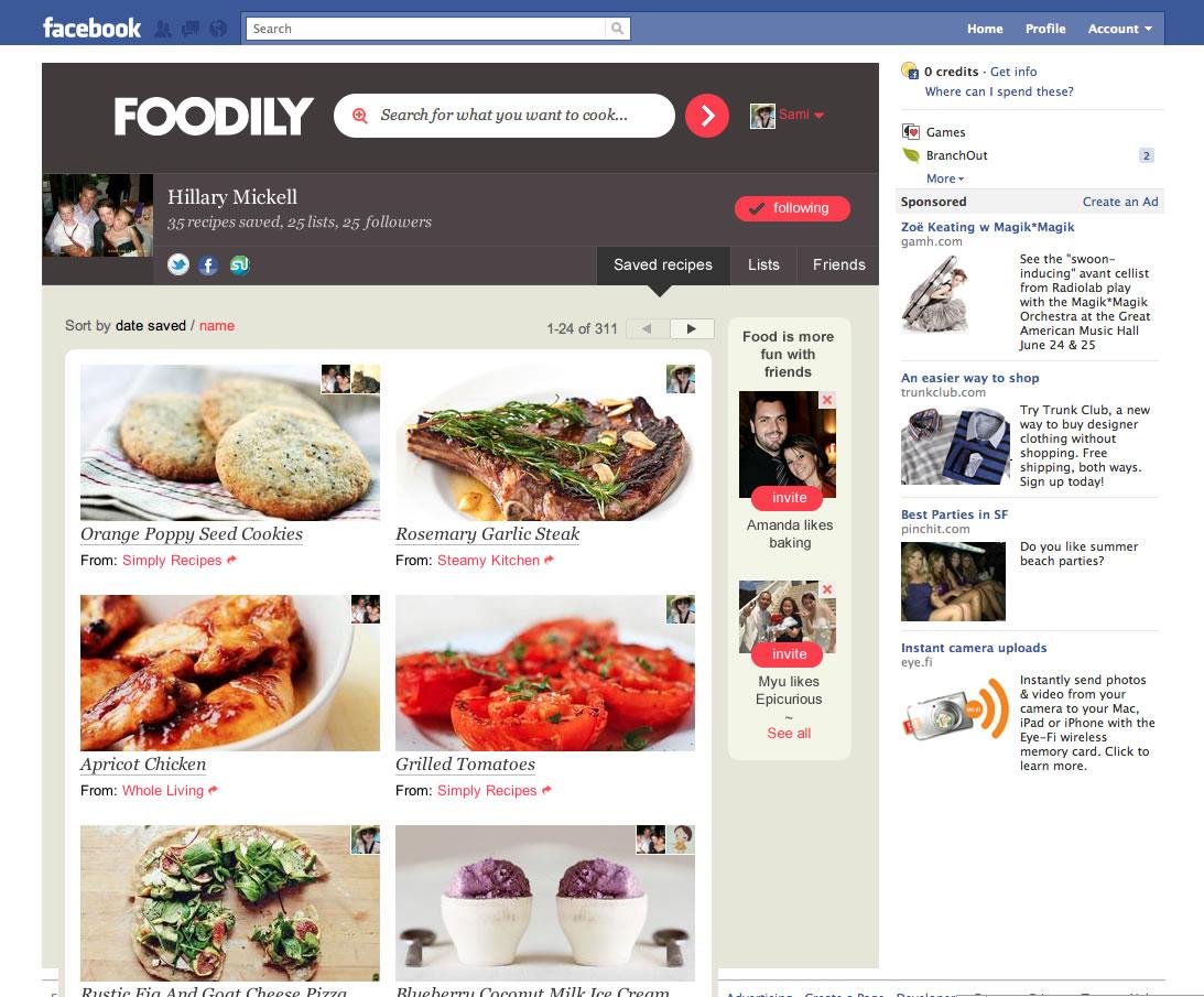 Foodily profile screenshot