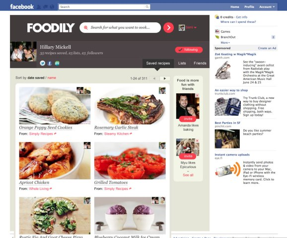 Social food index foodily releases facebook app for a new kind of social food index foodily releases facebook app for a new kind of recipe sharing forumfinder Image collections