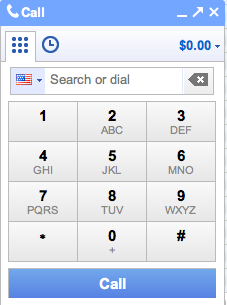 Google Call Phone Pad