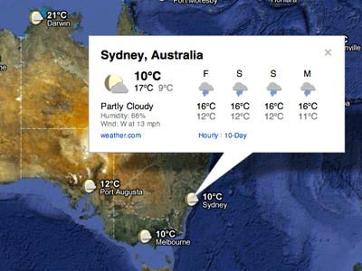 Google Weather Sydney