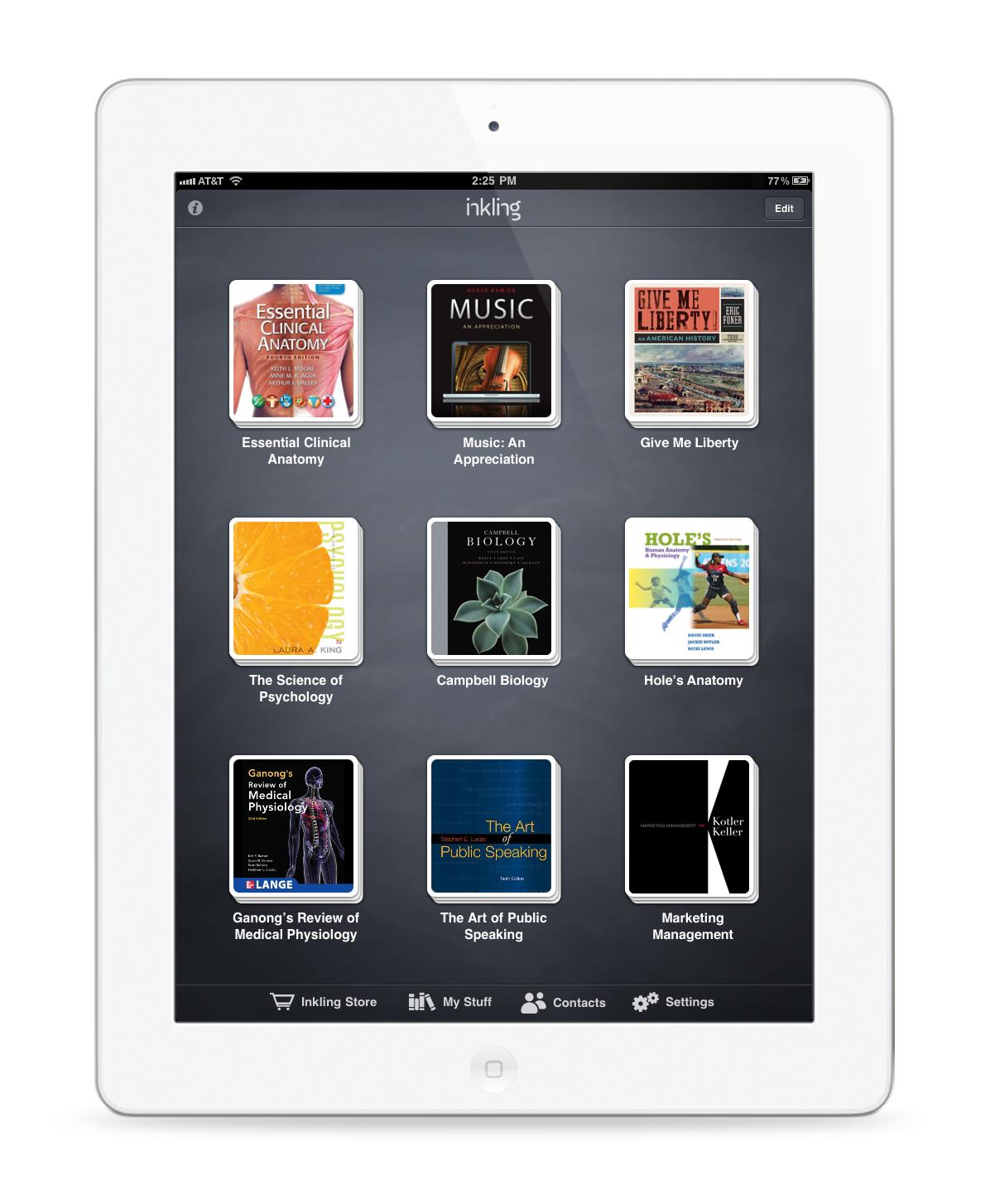 iPad Portrait Library