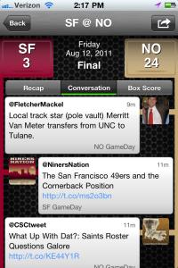 Sportcaster Tweets