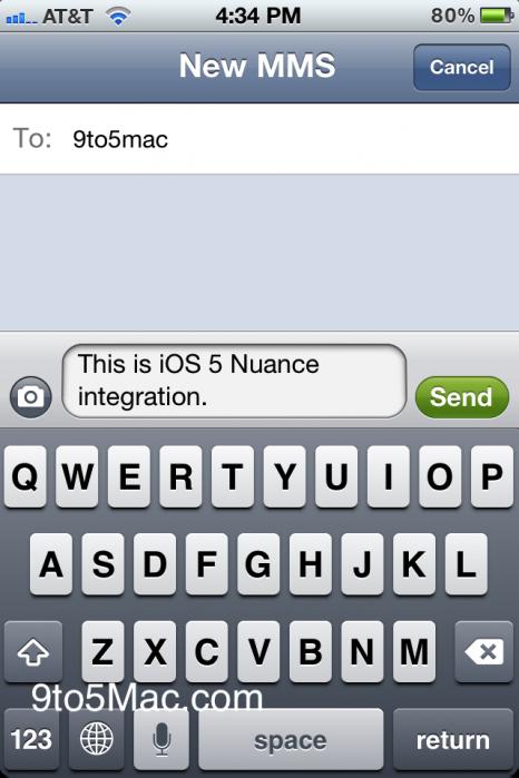 iOS 5 Nuance