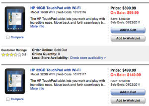 touchpad, Best Buy