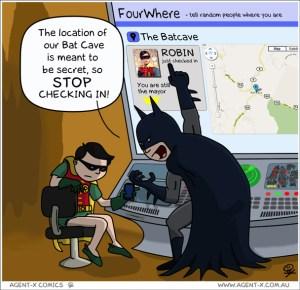 Bat cave check-ins