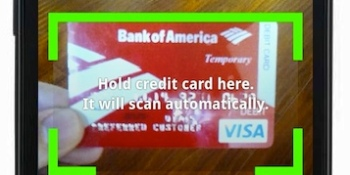 Android developers can finally use Card.io's optical credit card reader