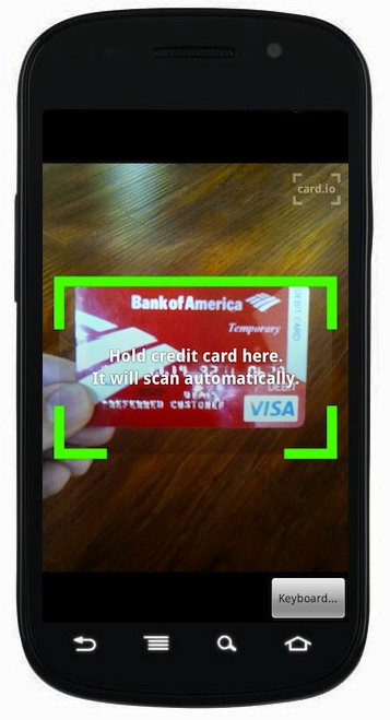 Android developers can finally use Card io's optical credit card