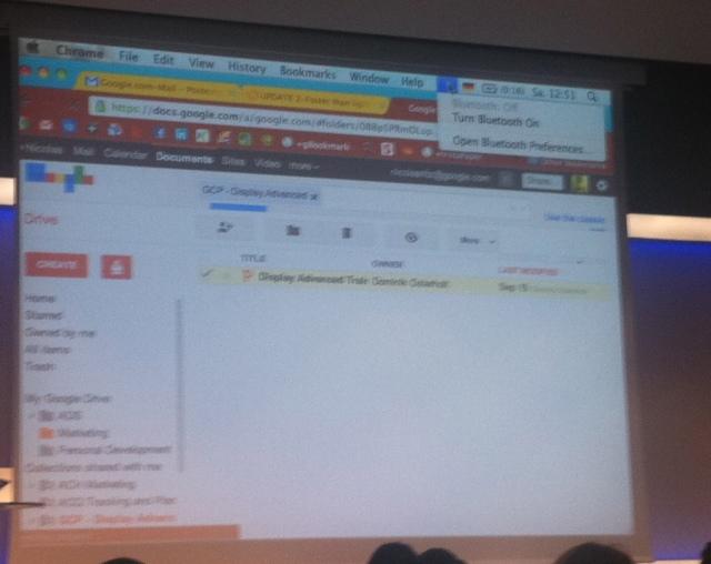 Blurry screenshot showing Google Drive