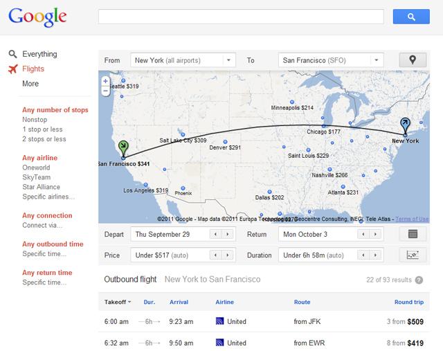 Find plane tickets on Google Flights - Computer - Travel Help
