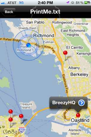 need to print from your iphone breezy s app finds nearby printers