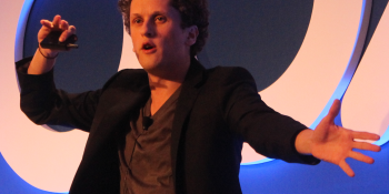Box.net founder Aaron Levie is poised on the edge of startup stardom