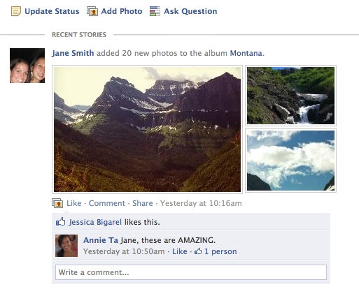 Facebook's news feed now features much larger photos