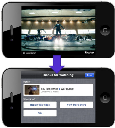Tapjoy says it can offer more effective mobile video ads