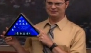 Dunder Mifflin launches iPad killer, The Pyramid