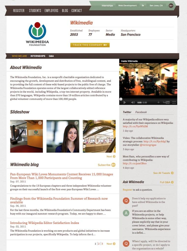 InternMatch Community Page