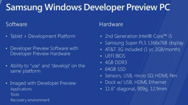 windows 8 samsung tablet specs