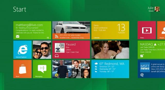 windows 8 screen