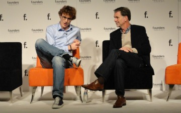 Reed Hastings and Paddy Cosgrave