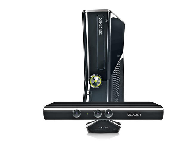 Xbox 360 console with Kinect