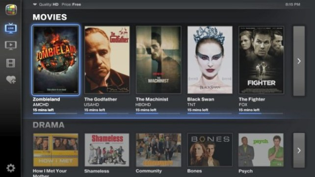 Google TV v2 movies and tv shows