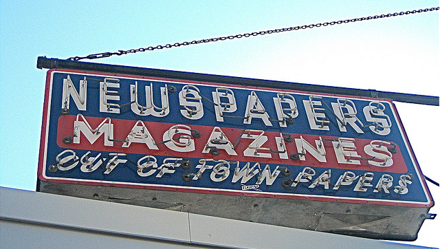 Newsstand sign