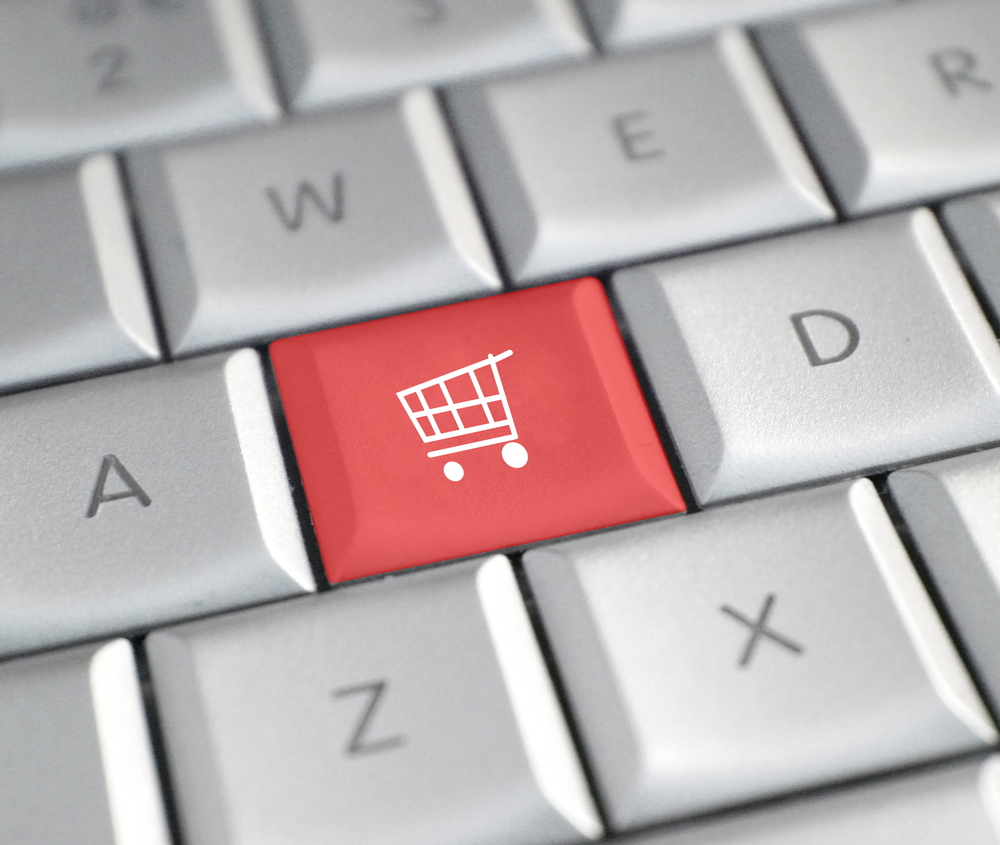 Shopping online via Shutterstock