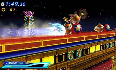 Modern Sonic firing off the boost mode