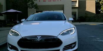 Tesla opens showrooms to show off its electric Model S cars