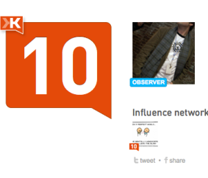 Klout observer