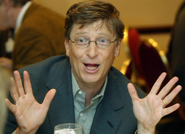 Bill Gates at the World Economic Forum in 2002
