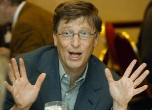 Bill Gates at the World Economic Forum in 2002