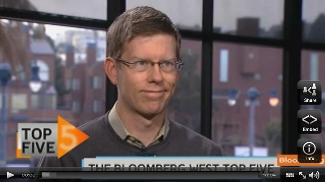 Screenshot of Dylan Tweney on Bloomberg West