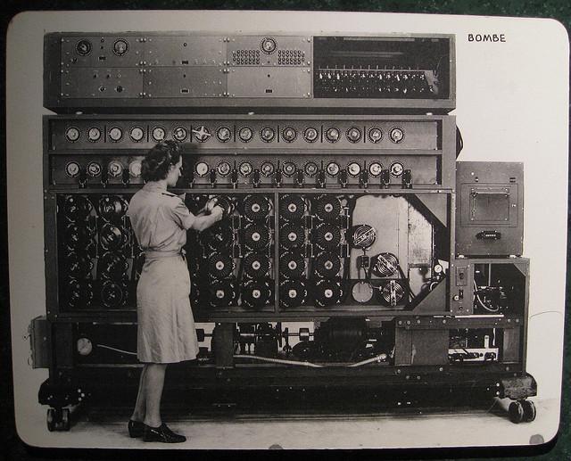 Code-breaking computer, the Bombe, used in World War II