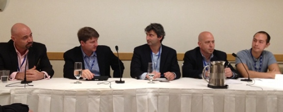 Speakers at the storage session at CloudBeat 2011