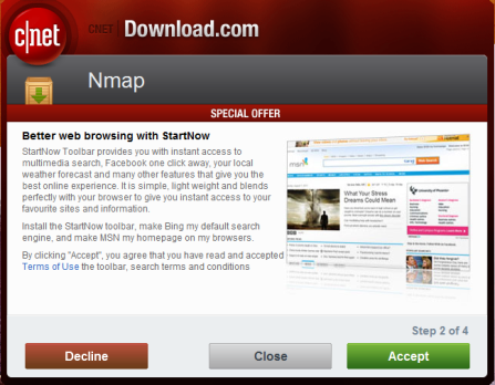 Heres why were not too worked up over cnets download malware cnet nmap reheart Image collections