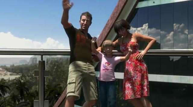 Dead Island family waves goodbye