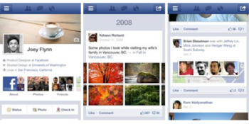 Facebook launches Timeline on Android and mobile sites
