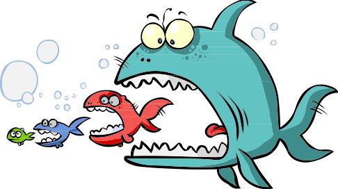 Big fish eating littler fish