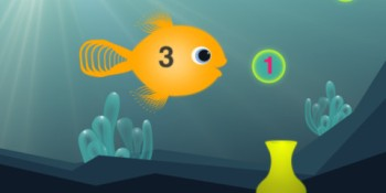 Kids (and adults) will have fun learning math with Hungry Fish for iPad