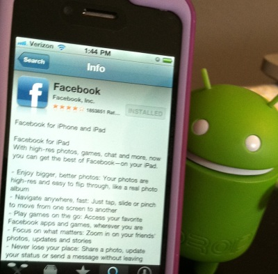 Facebook's Android app beating out iPhone for daily usage