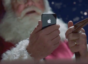 santa siri apple iphone 4s