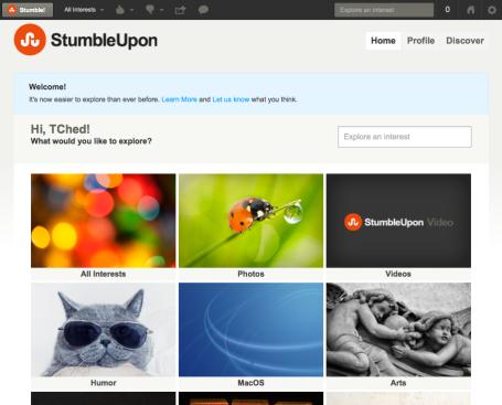 StumbleUpon screenshot