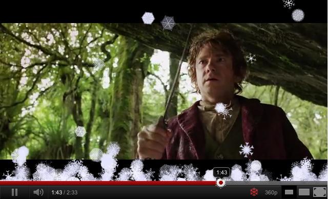YouTube Snowflake button