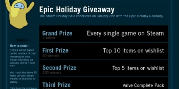 You could own every Steam game – if you're the Grand Prize winner of the holiday sale