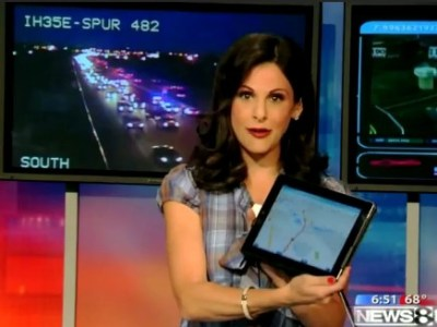 Waze on broadcast news