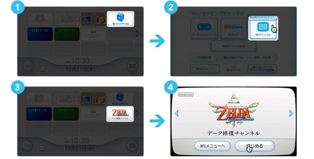 Zelda Data Restoration Channel