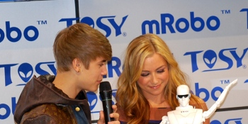 Justin Bieber makes a dancing robot even cooler at CES