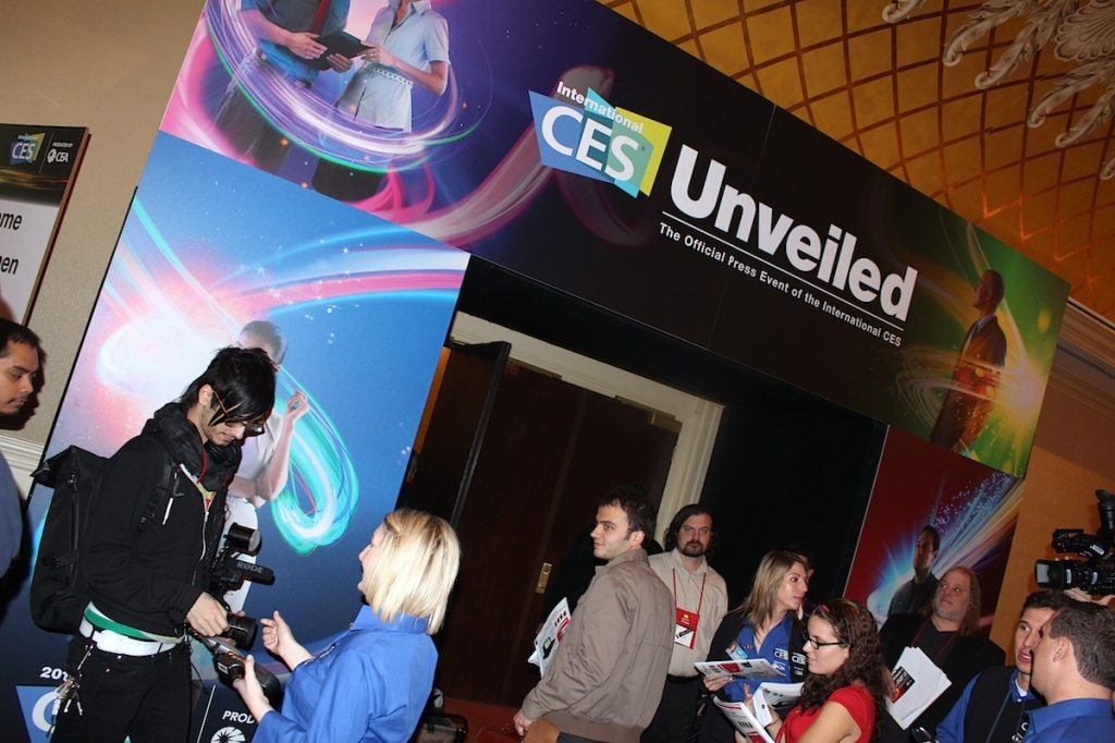 CES Unveiled kicks off the Consumer Electronics Show 2012 with a roomful of new gadgets and journalists.